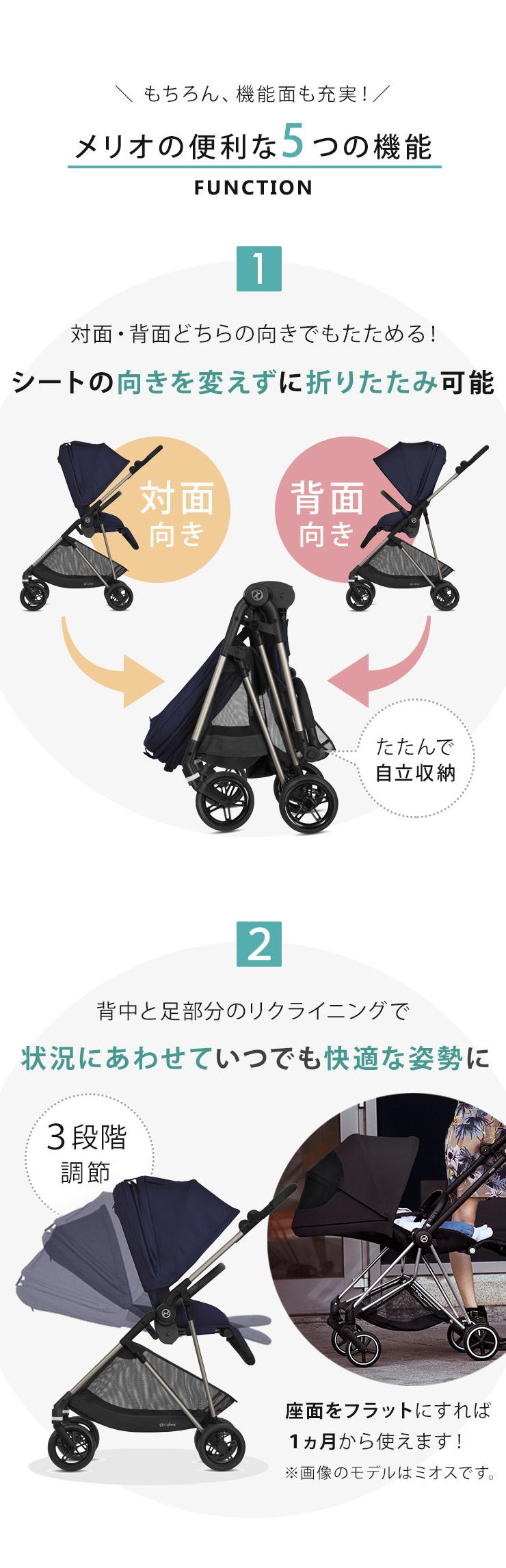 サイベックス ベビーカー メリオの5つの機能